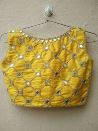 Mirror work blouse designs - Simple Craft Ideas