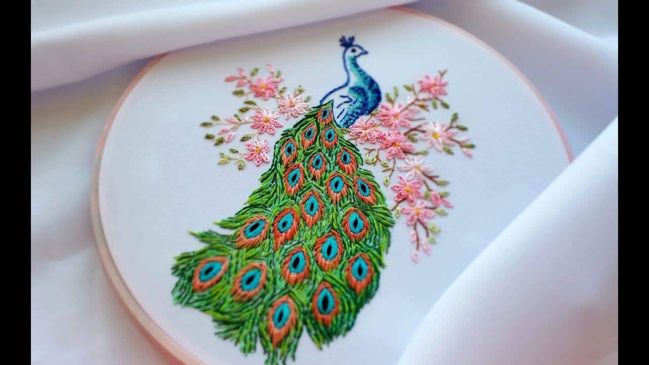 How To Do Hand Embroidery Peacock Simple Craft Ideas