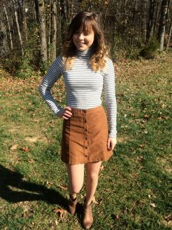 Faux suede skirt (Hollister)