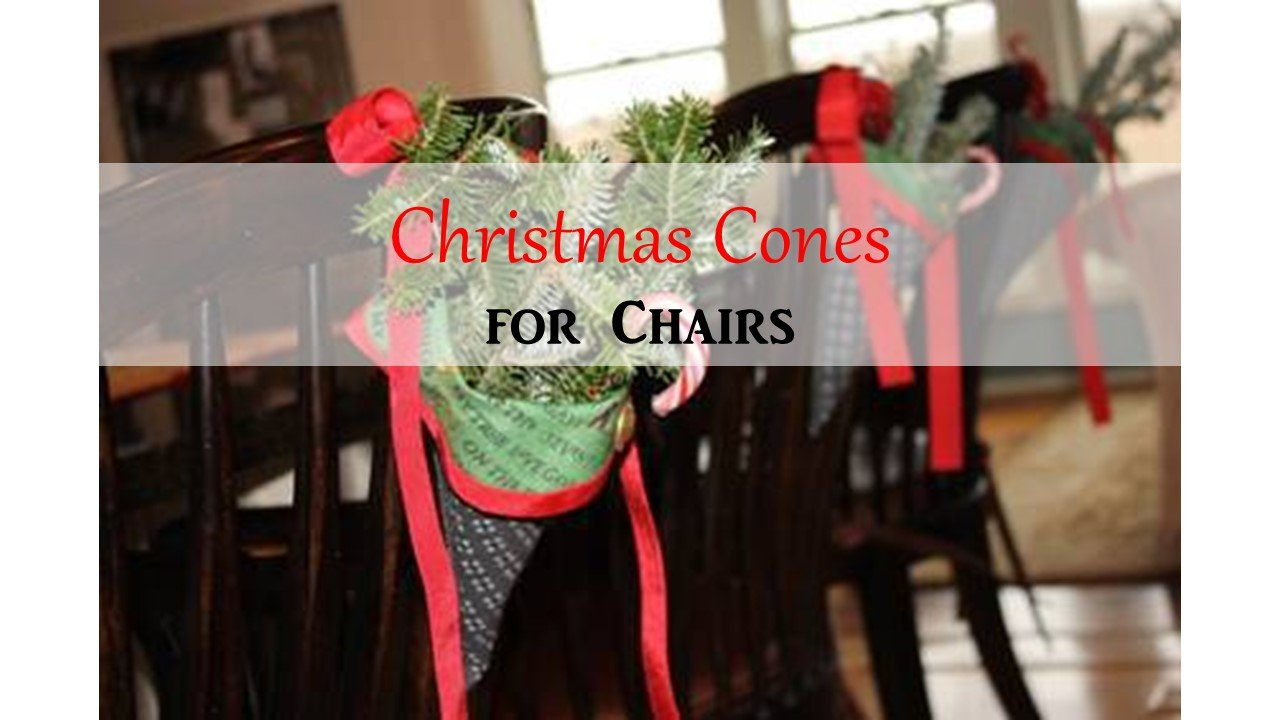 HometoCottage.com Christmas Cones for Chairs