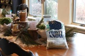 HometoCottage.com Tutorial on creating Christmas or Winter Tablescape