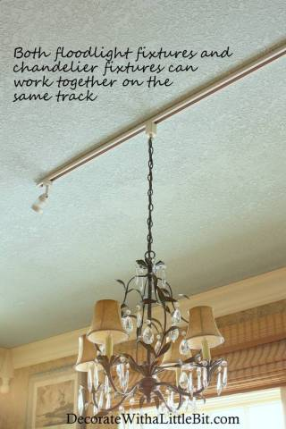 HometoCottage.com DIY track light chandelier