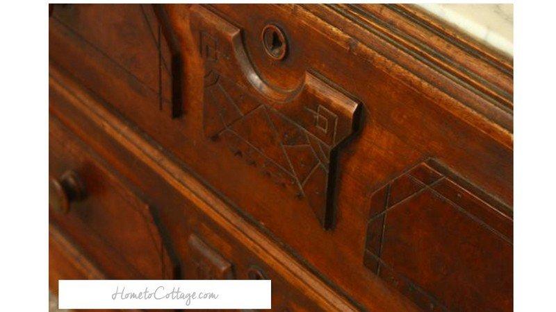 HometoCottage.com eastlake drawer detail
