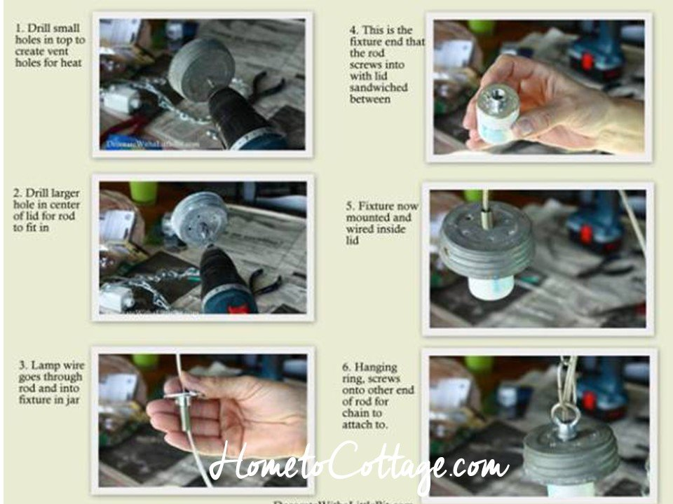 HometoCottage.com steps to making your own pendant