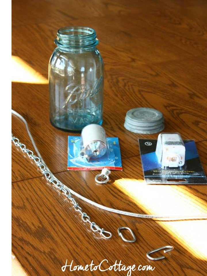 HometoCottage.com DIY canning jar pendant supplies