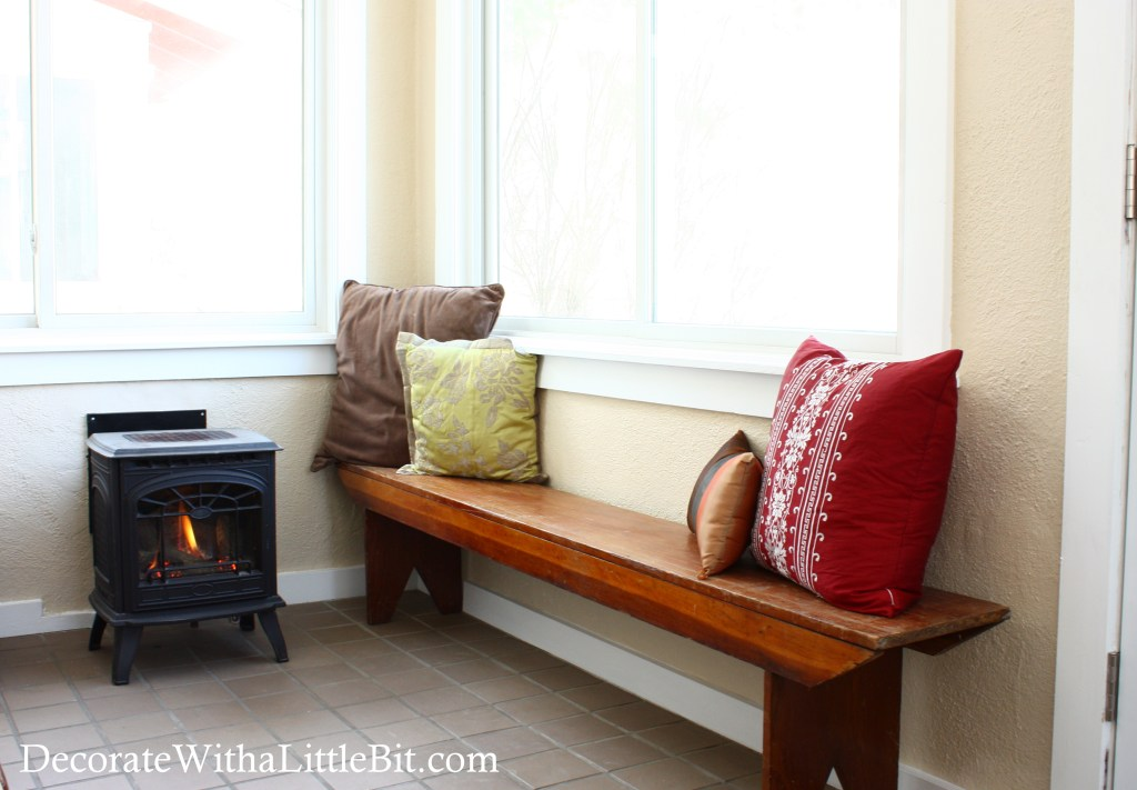 DecorateWithaLittleBit.com porch now bench