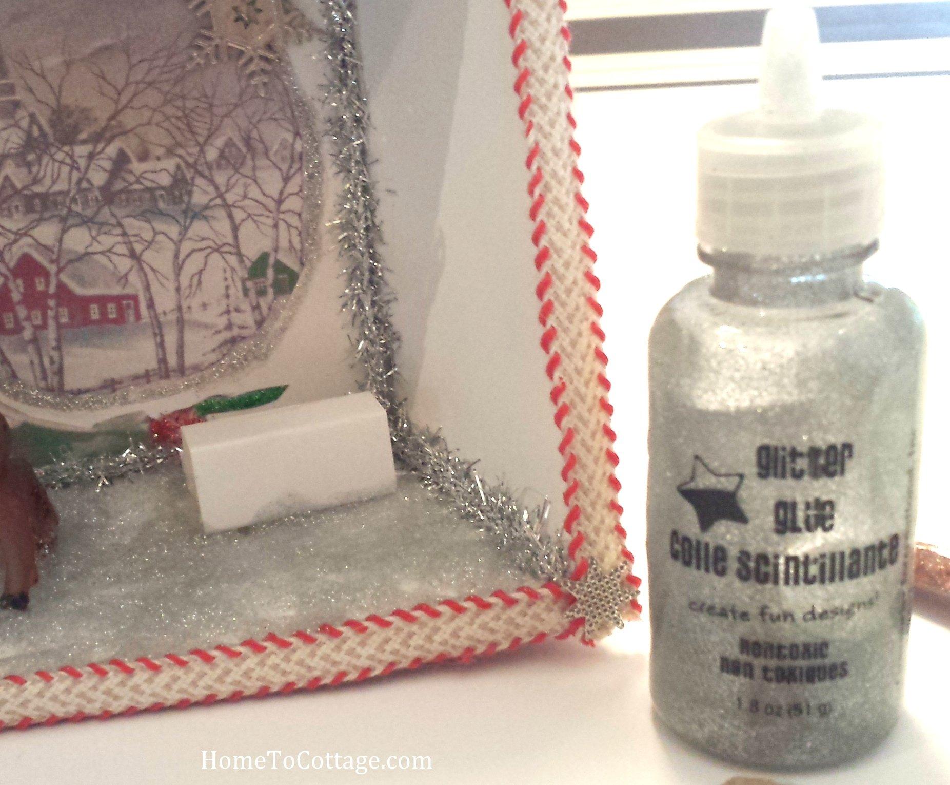 1 HomeToCottage.com diorama glitter glue