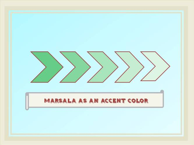 www.HomeToCottage.com marsala as accent color
