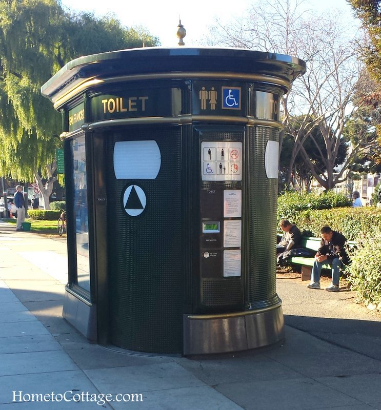 HometoCottage.com toilet in park cleaning