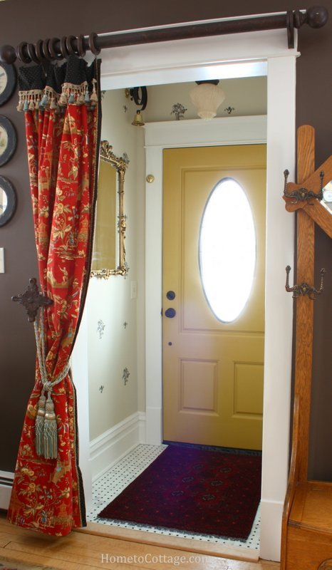 Front Entry Doorway Curtain Portiere - SIMPLE DECORATING TIPS