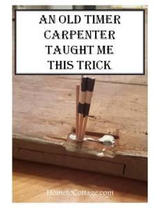 HometoCottage.com Old Carpenter Trick