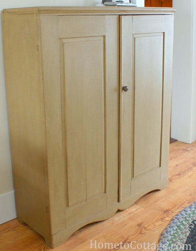 HometoCottage.com tv and primitive cupboard-001