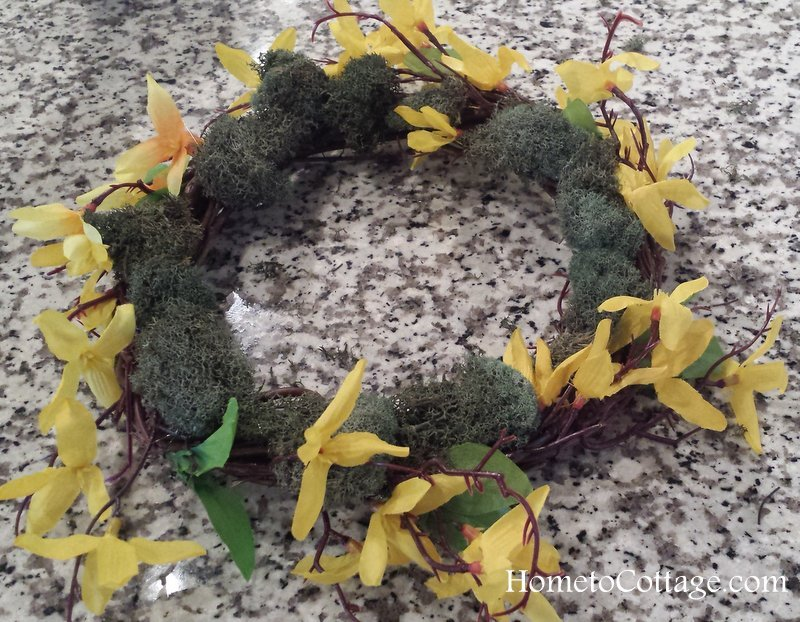 HometoCottage.com wreath completed