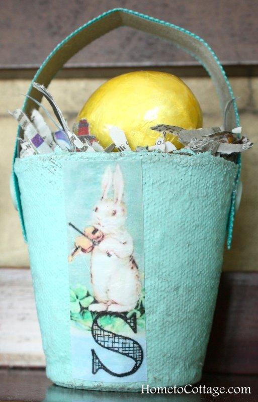 HometoCottage.com peat pot Easter basket