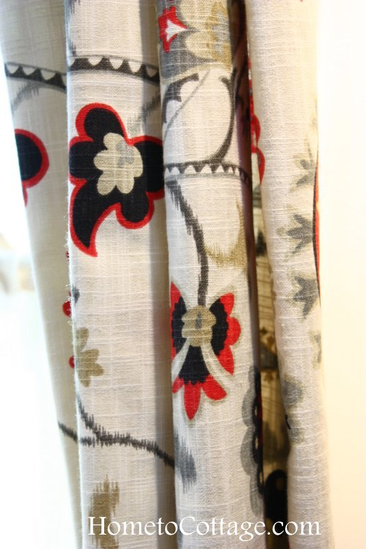 HometoCottage.com texture of drapery fabric