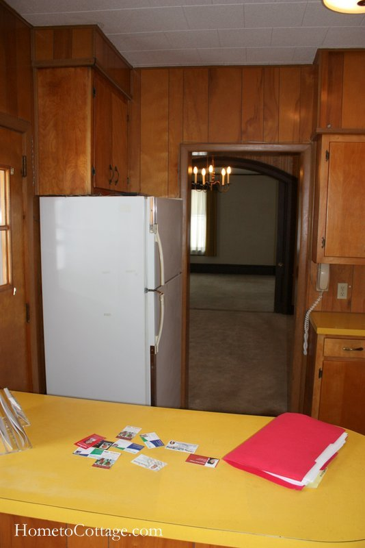HometoCottage.com brick cottage kitchen before 2