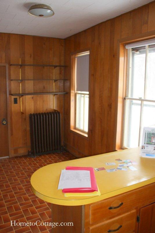 HometoCottage.com brick cottage farmhouse kitchen before 1