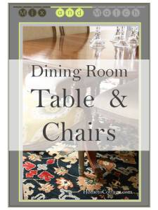HometoCottage: Mix & Match Dining Room Table & Chairs title