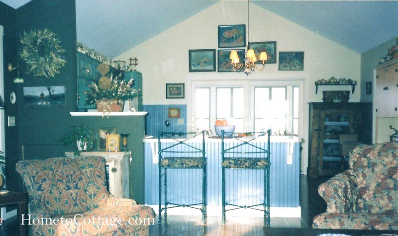 HometoCottage.com before kitchen to porch new wall old peninsula 001