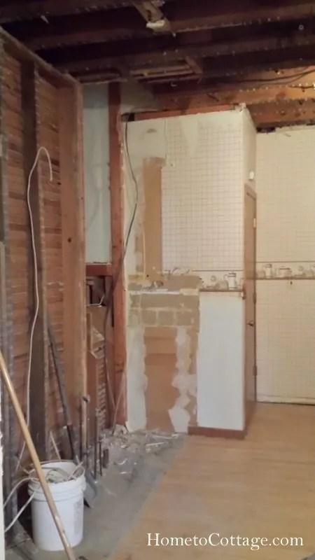 HometoCottage.com kitchen gutted