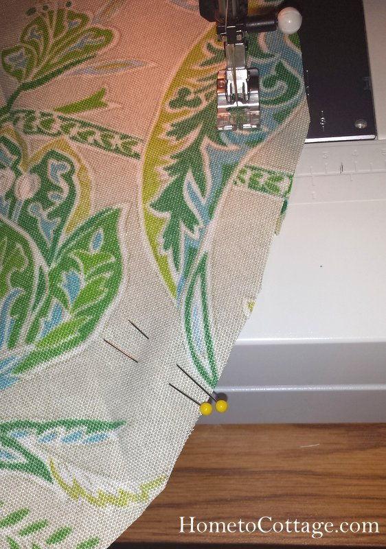 HometoCottage.com double pin where sewing stops