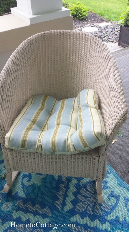 HometoCottage.com old cushion too wide