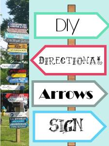 HometoCottage.com DIY Directional Arrows Sign