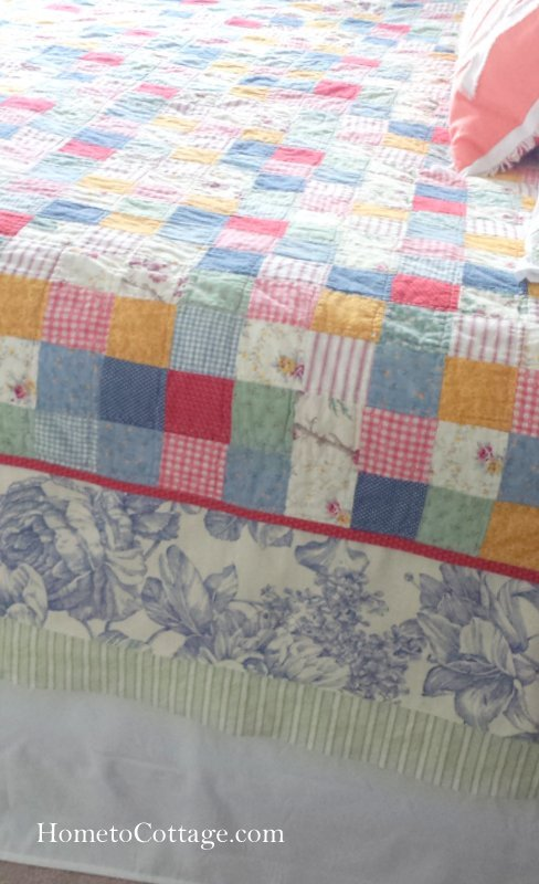 HometoCottage.com edge sewn on quilt
