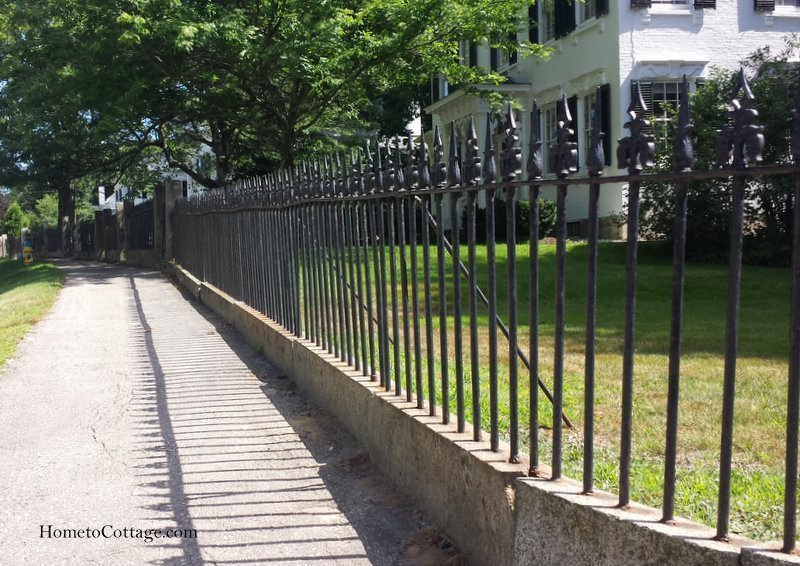 HometoCottage.com granite and iron fence