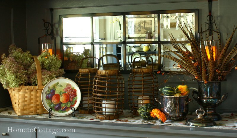 HometoCottage.com Autumn Arranging Buffet Shelf