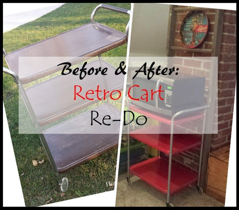 HometoCottage.com Before and After Retro Cart Re-Do