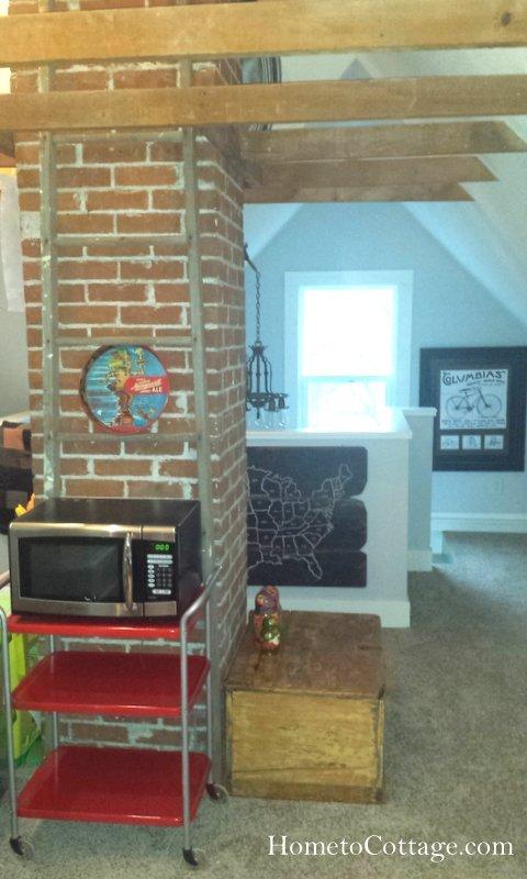 HometoCottage.com retro cart re-do in attic