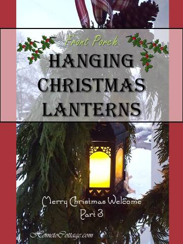 HometoCottage.com Hanging Christmas Lanterns