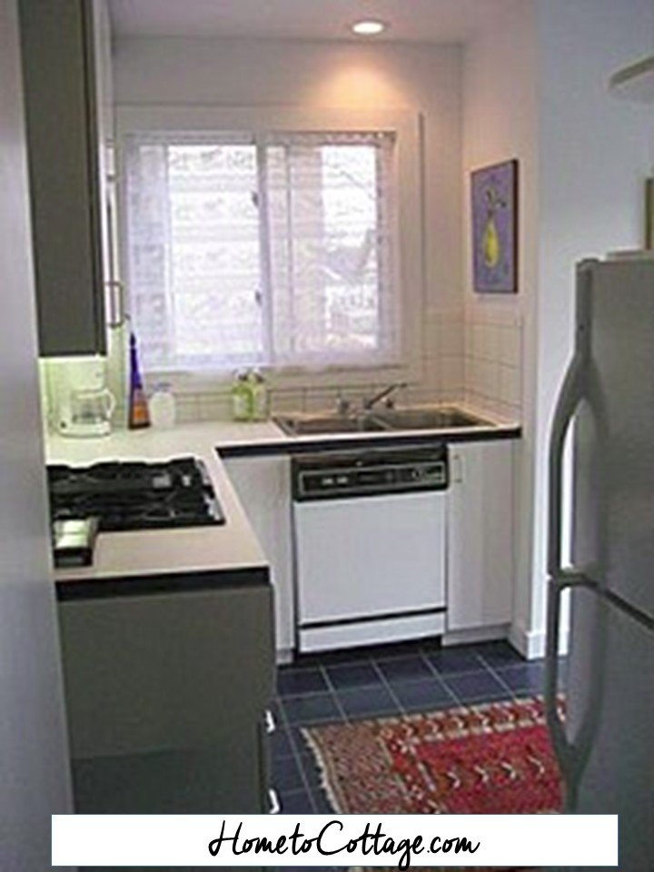 HometoCottage.com kitchen and fridge before