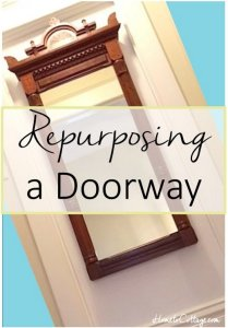 HometoCottage.com Repurposing a doorway title