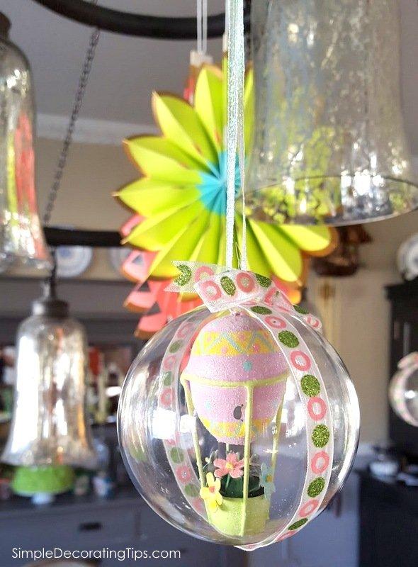 SimpleDecoratingTips.com Easter adorned chandelier
