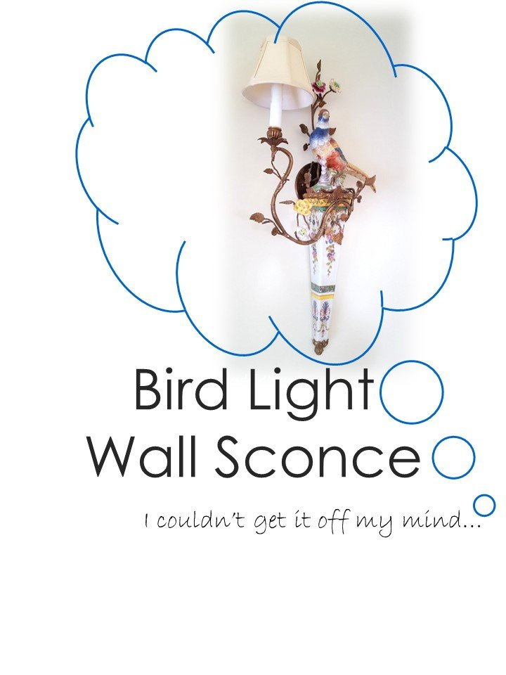 HometoCottage.com Bird Light Wall Sconce I couldn't get it off my mind...