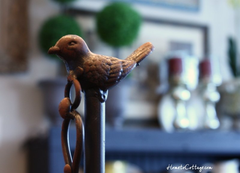 HometoCottage.com bird finial on top of scale