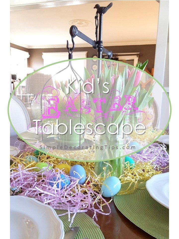 SimpleDecoratingTips.com Kid's Easter Tablescape