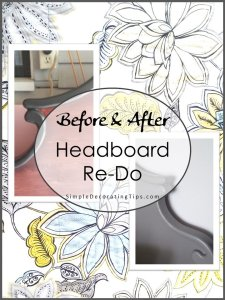 SimpleDecoratingTips.com Before and After Headboard Re-Do