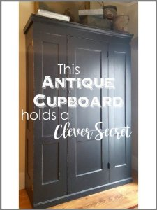 SimpleDecoratingTips.com This Antique Cupboard holds a Clever Secret