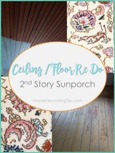 SimpleDecoratingTips.com Ceiling and Floor Redo 2nd Story Porch