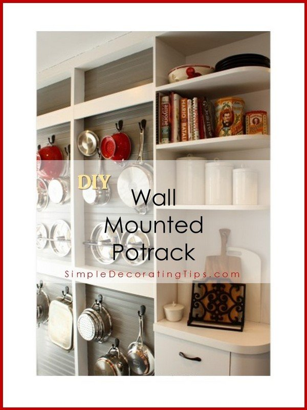 SimpleDecoratingTips.com DIY wall mounted potrack