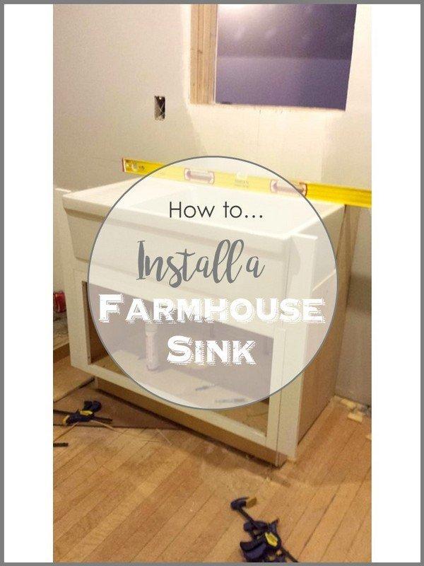 SimpleDecoratingTips.com How to install a farmhouse sink