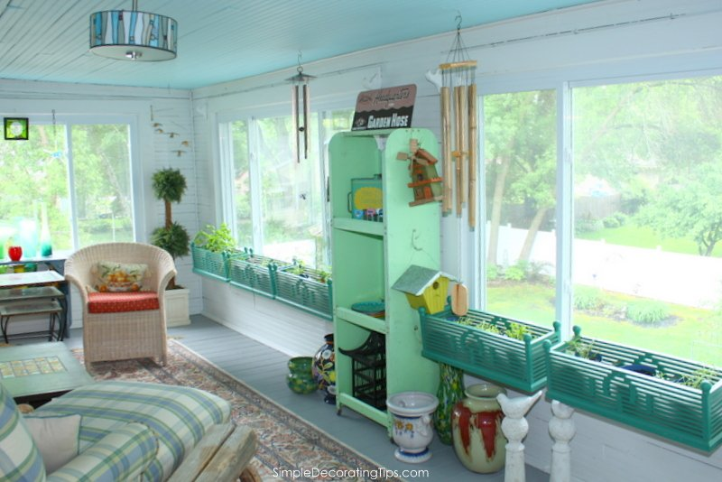 SimpleDecoratingTips.com 2nd story sunporch final reveal