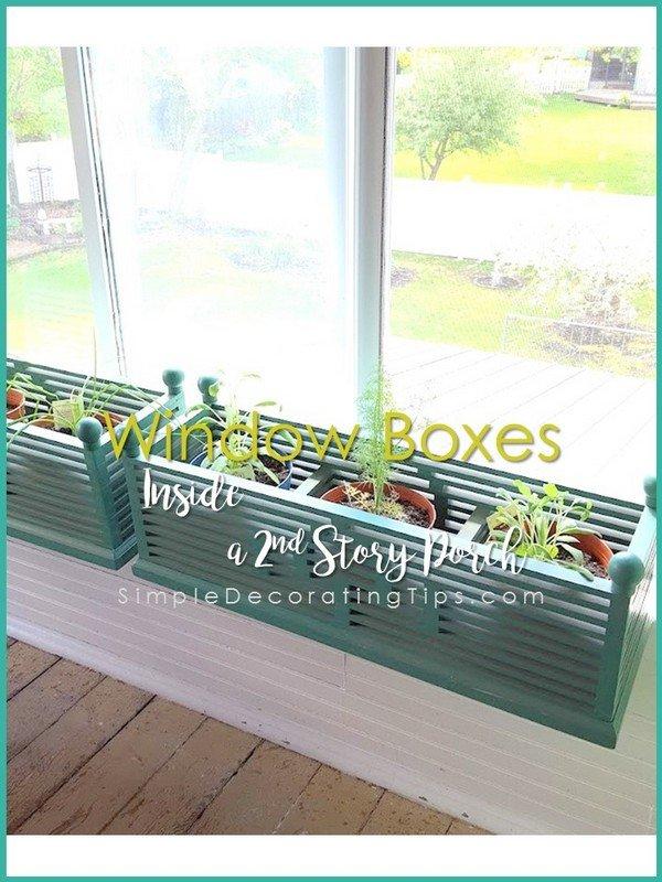 SimpleDecoratingTips.com Window Boxes inside a 2nd story porch
