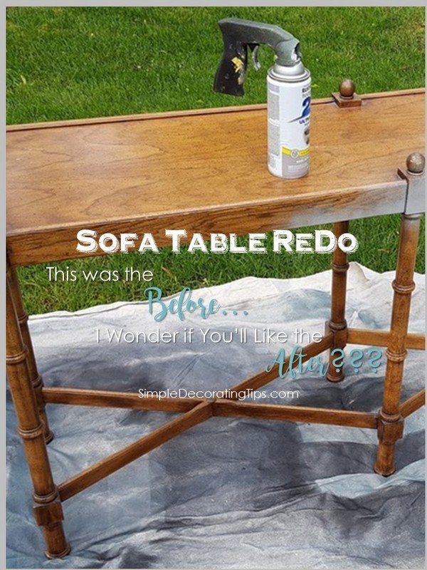 SimpleDecoratingTips.com Sofa Table Redo Before and After
