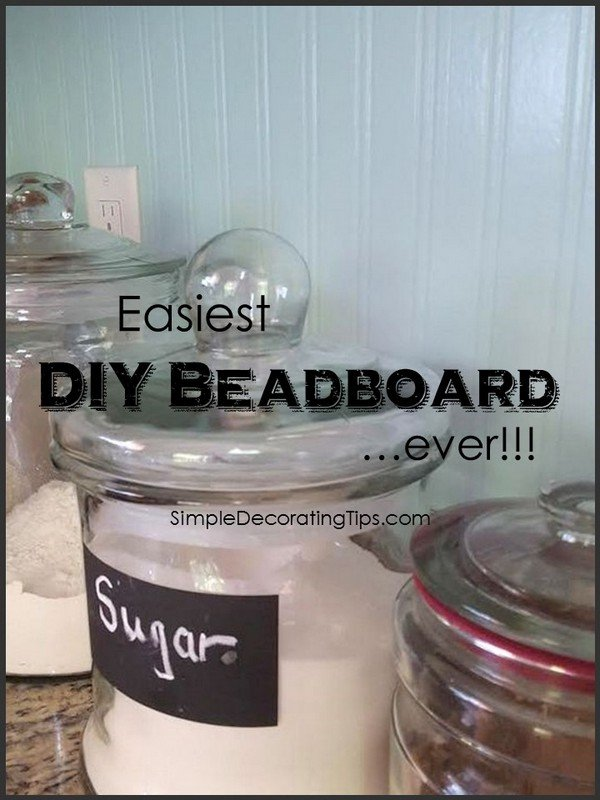 SimpleDecoratingTips.com Easiest DIY Beadboard ever