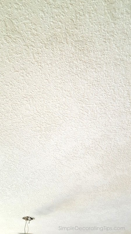 SimpleDecoratingTips.com changing popcorn ceilings to knockdown