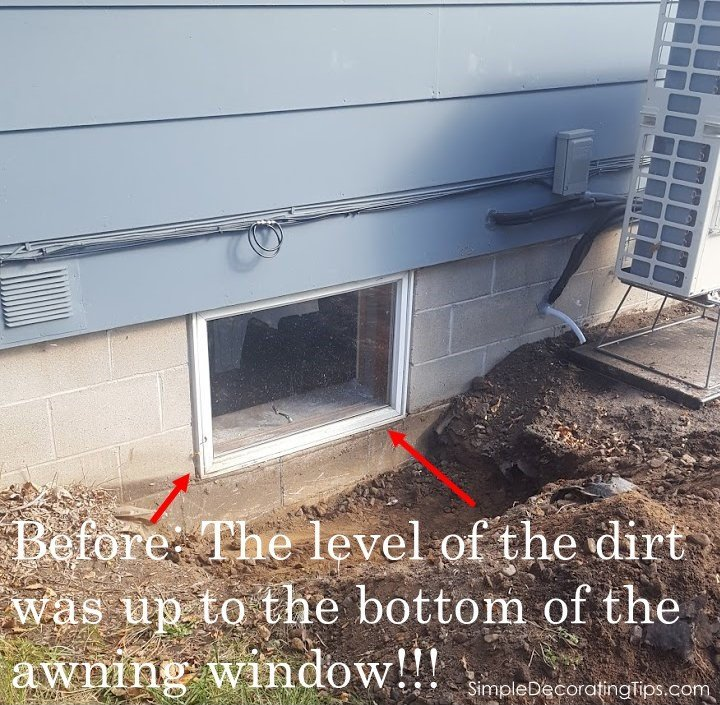 SimpleDecoratingTips.com DIY Window Well Installation